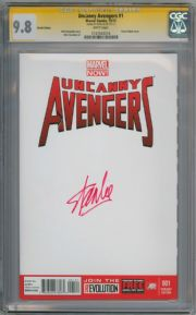 Uncanny Avengers #1 Blank Sketch Variant CGC 9.8 Signature Series Signed Stan Lee Marvel Now 2012